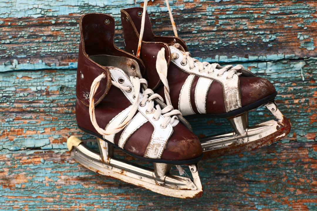 Vintage pair of mens ice skates - AllSportsystems - Video Analysis Software