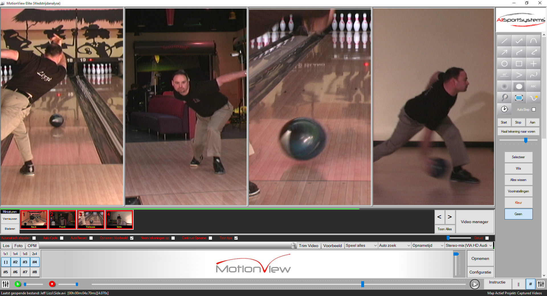 MotionView - Bowling - Video Analyse Software