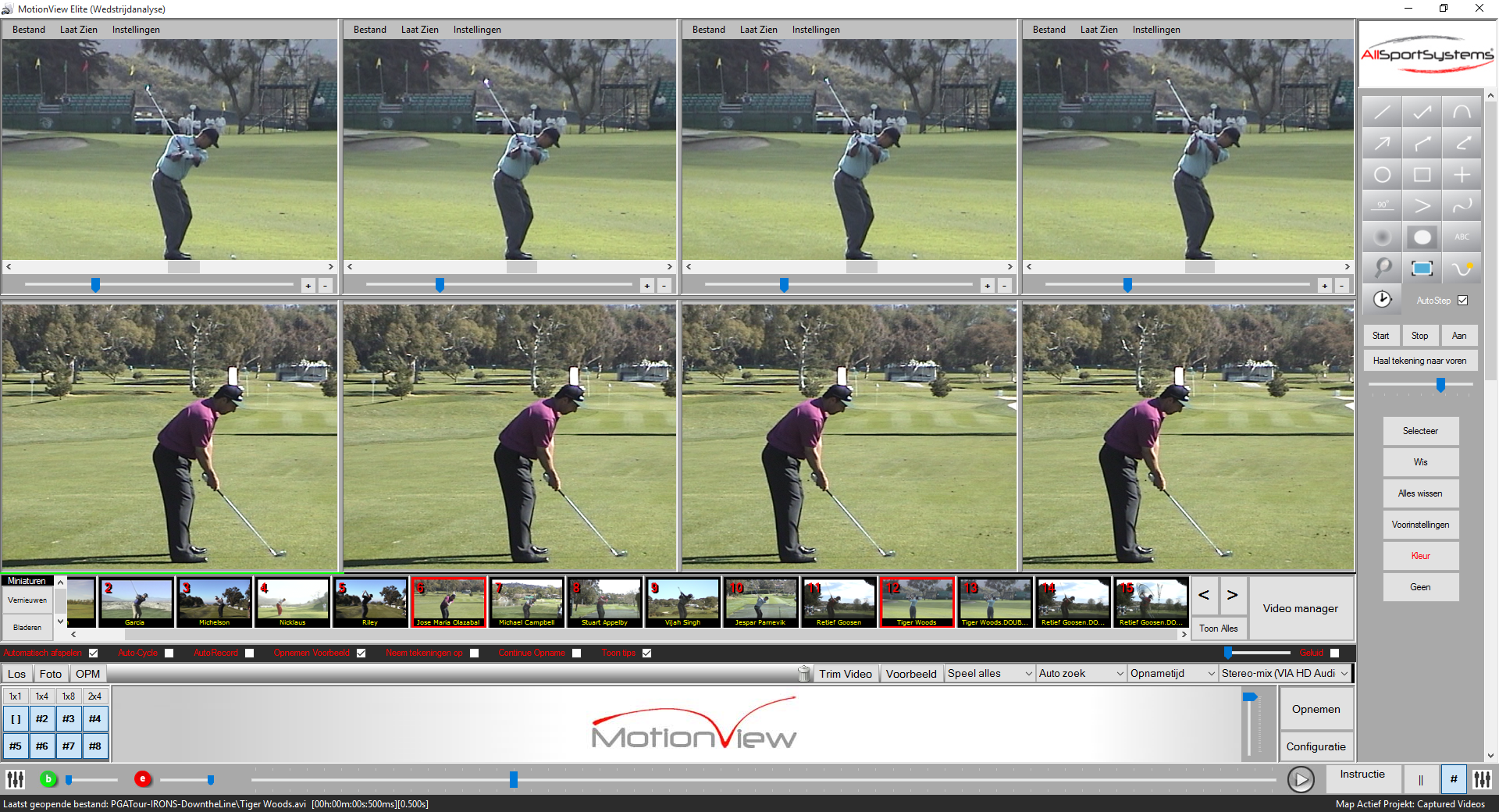 MotionView - Golf - 8 cameras - Video Analysis Software