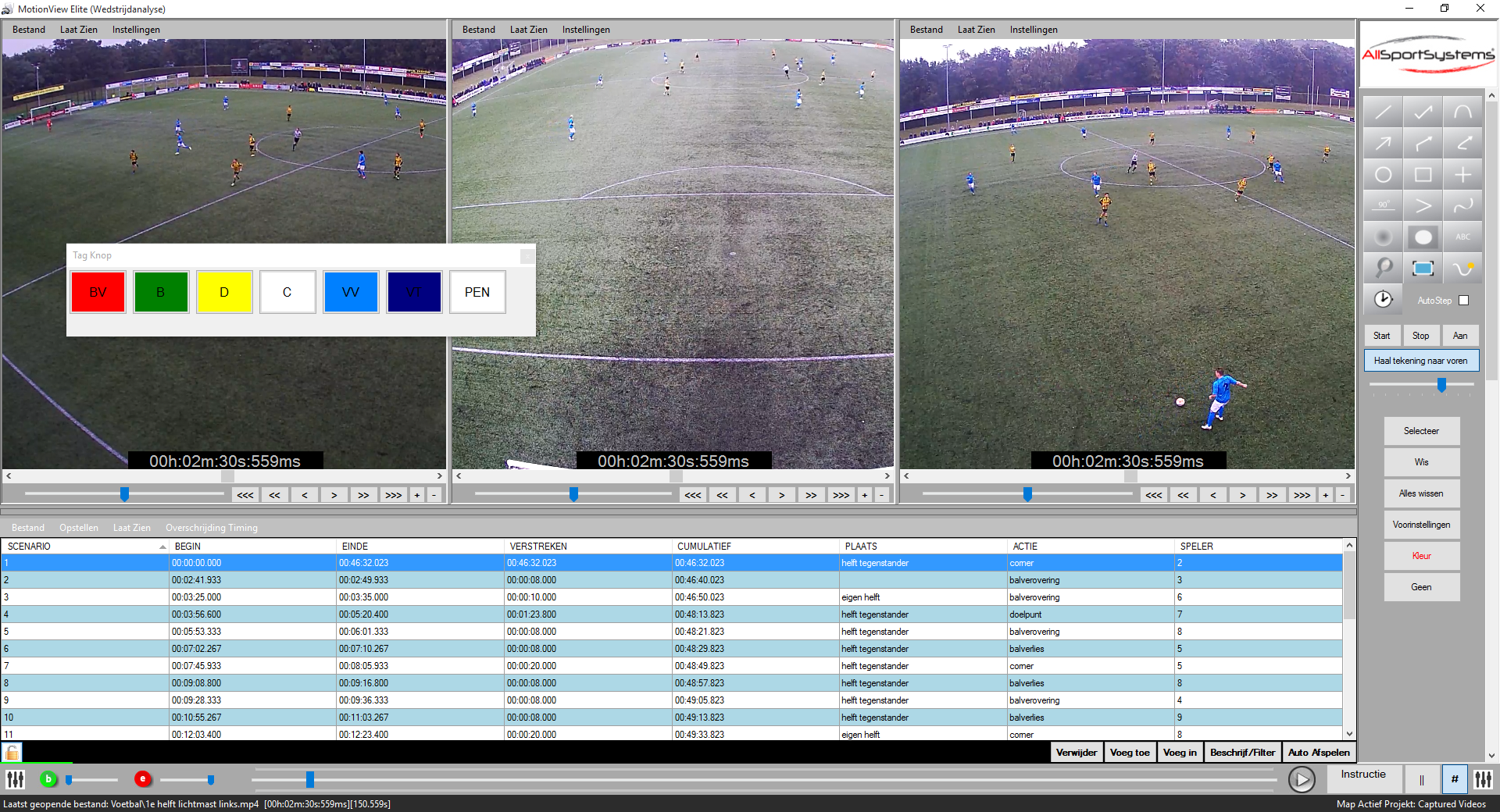 MotionView - Voetball-Soccer - Video Analyse Software