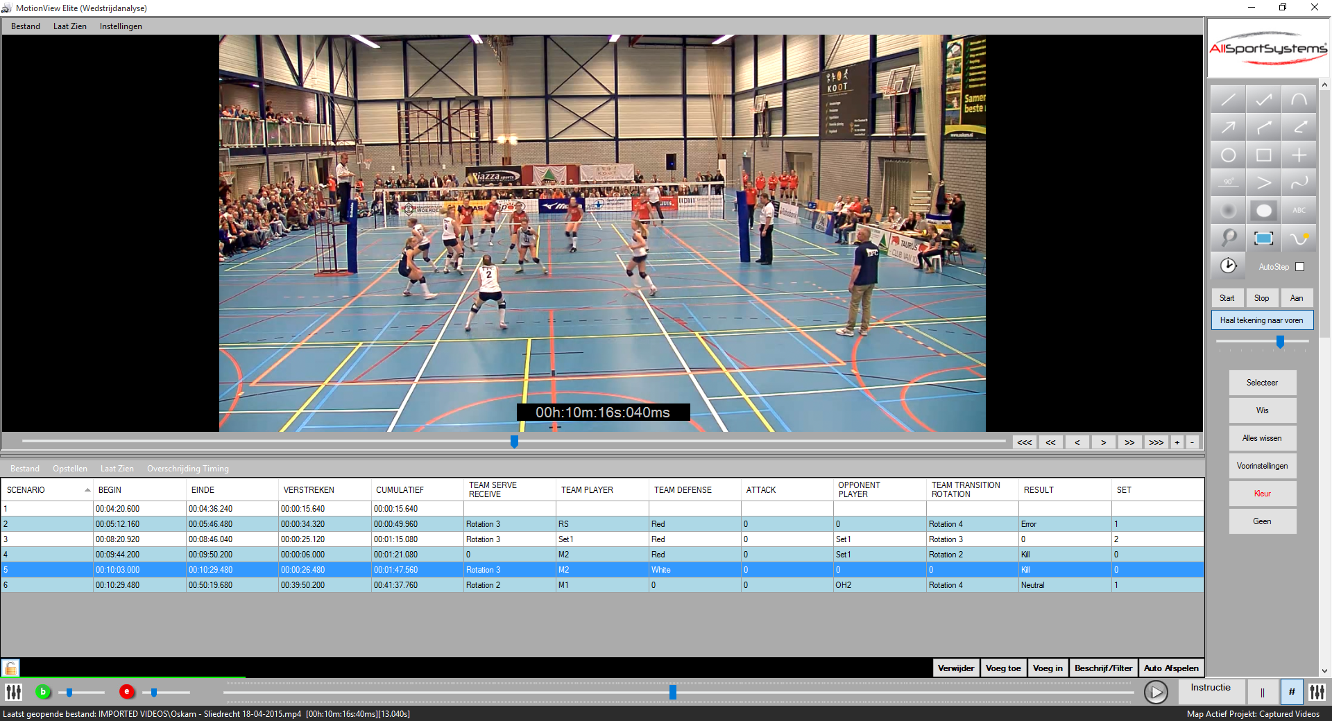 MotionView - Volleybal - Data Collector