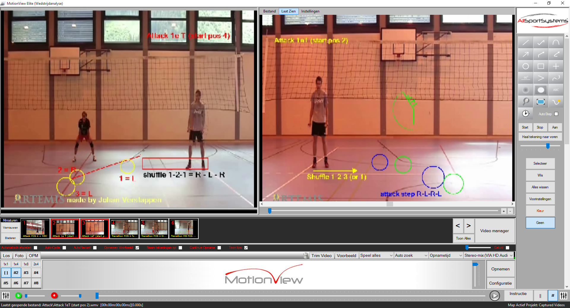 MotionView - Volleybal - Marker Detection and Path Tracing-