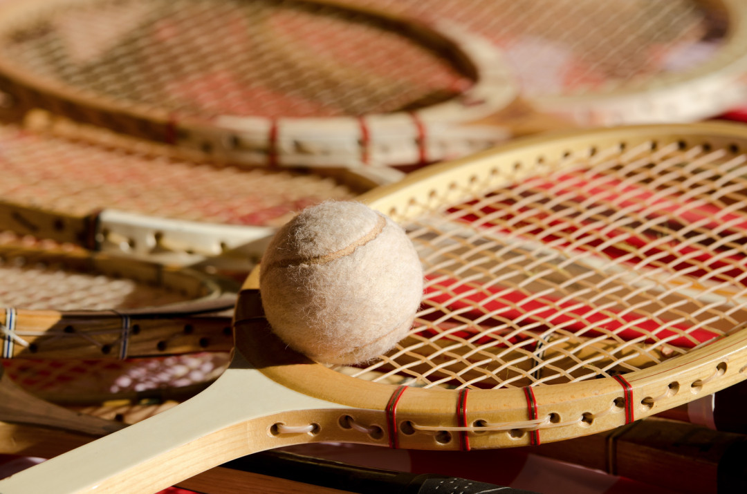 Vintage Wooden tennis racket - AllSportsystems - Video Analysis Software